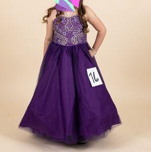 purple girls pageant dress